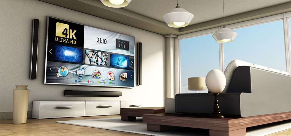 4k UHD TV home cinema installation