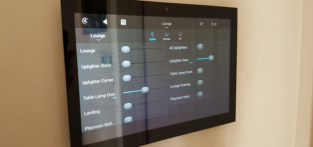 Touchscreen for intelligent lighting system