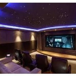 Star Ceiling Cinema Room with LED Lighting 150% size